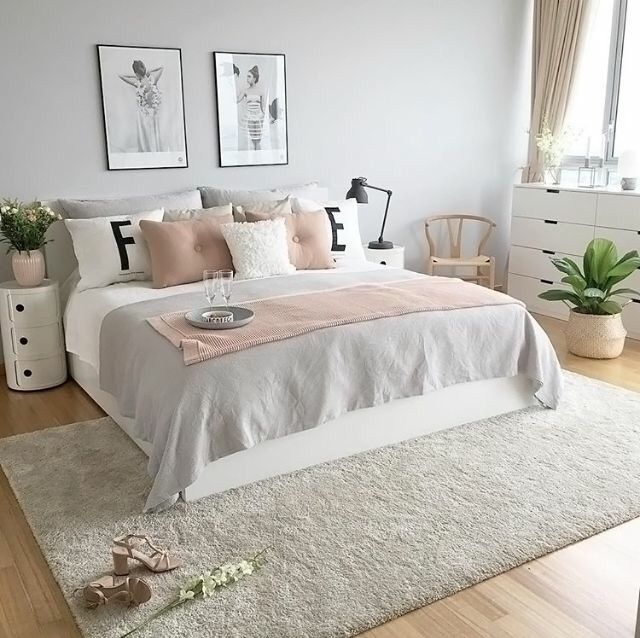 Pink And Gray Bedroom Ideas Part - 34: Bed Room