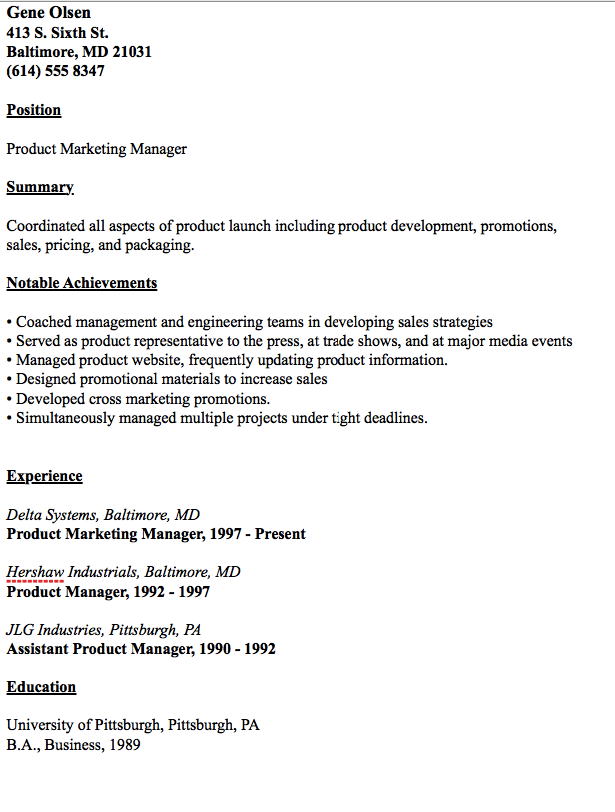Example Of Product Marketing Manager Resume Resumesdesign Manager Resume Marketing Manager Lettering