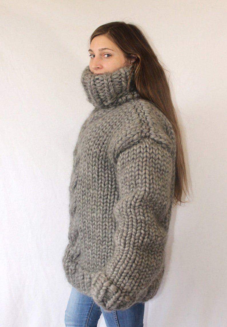 4 5 kg Turtleneck sweater gotland wool super thick sweater