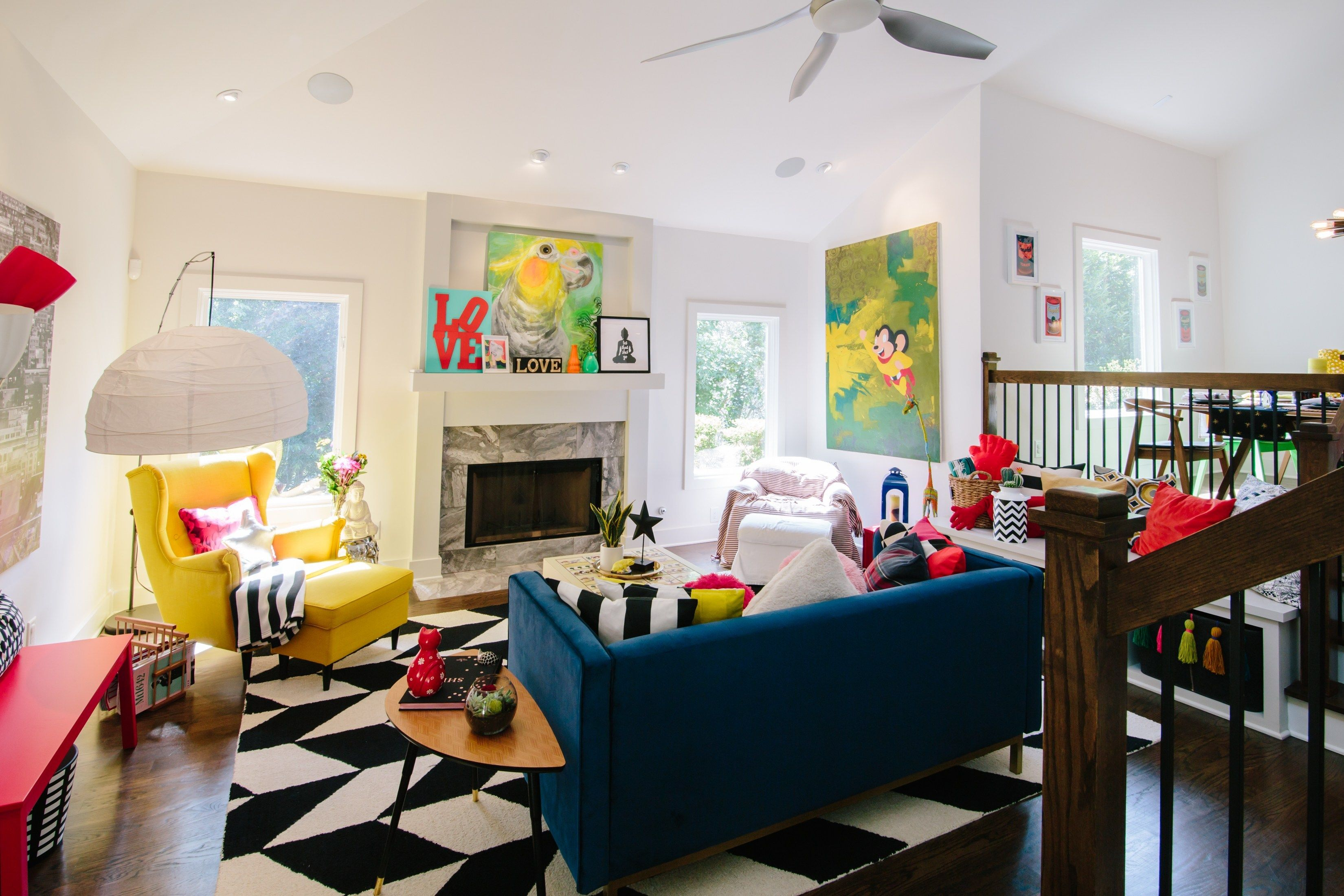 The Creative Bold Colourful Home Of Paola Roder Colourful