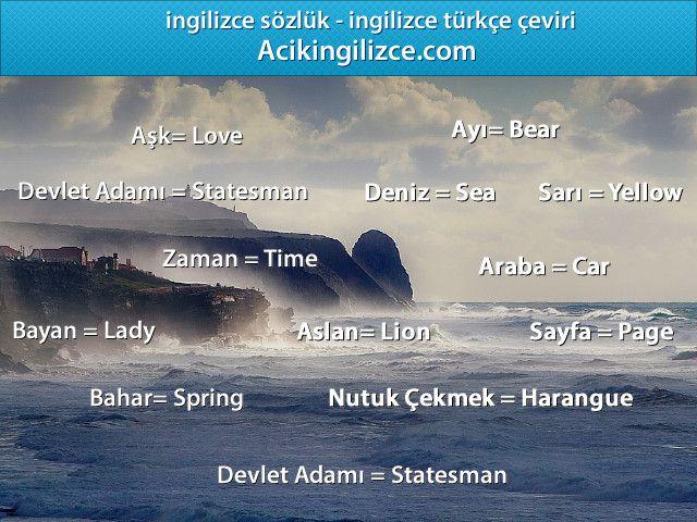 Ingilizce Turkce Ceviri Http Acikingilizce Com Ingilizce Turkce