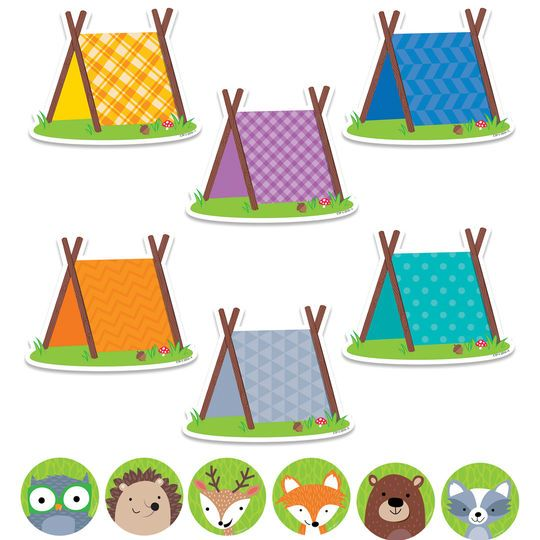"""Woodland Friends 6"""" & 3"""" Cut-Outs Combo Pack"""