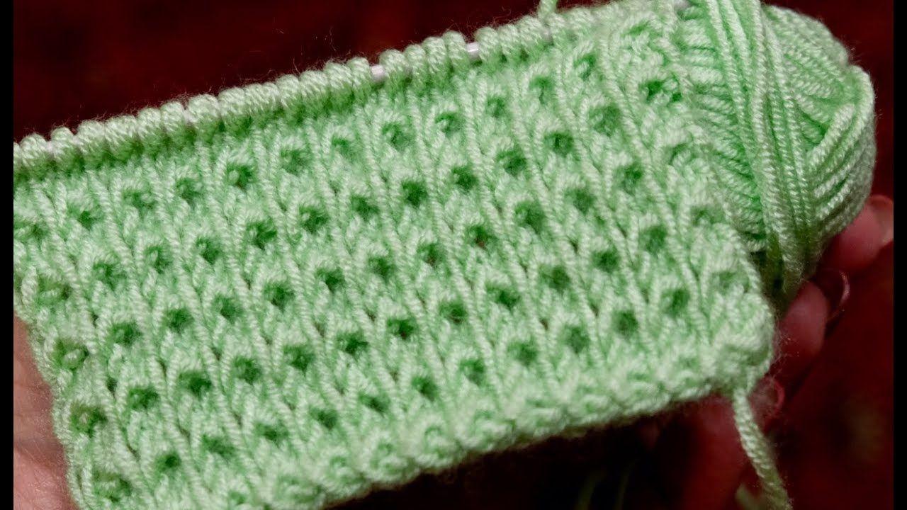 схемы вязания снятыми петлями