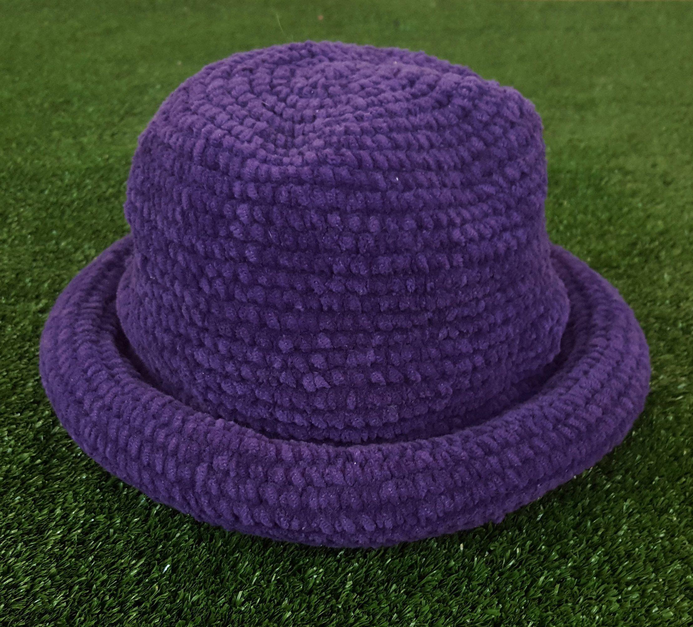 f5f032f123e Vintage 90 s Purple Bucket Hat   Floppy Crocheted   Dad Hat   Festival Gear    Vintage   Purple   by NEONPOINT on Etsy