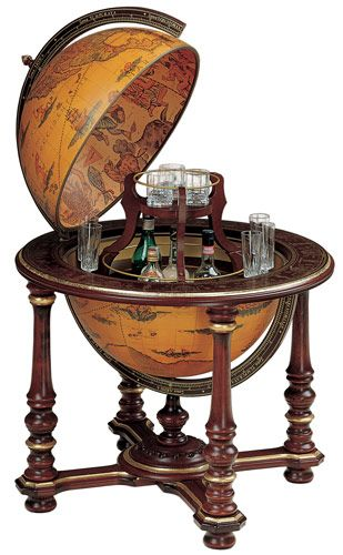 Mahogany Bar Globe With Gold Accents Globe Bar Globe Decor World Globes
