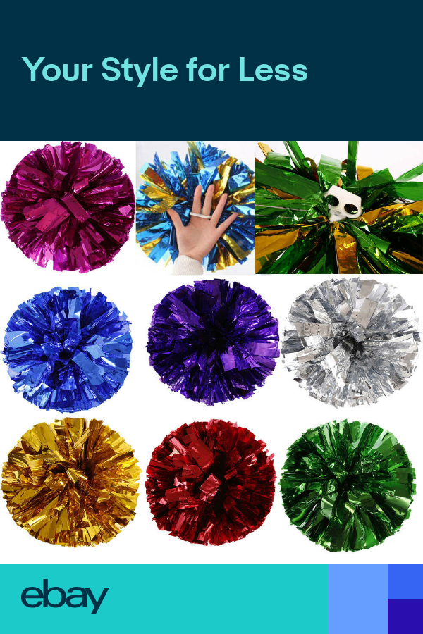 Best Metallic Foil Handheld Pom Poms Dance School Team Cheerleading Party Decor Cheerleading Party Party Decorations Party Accessories