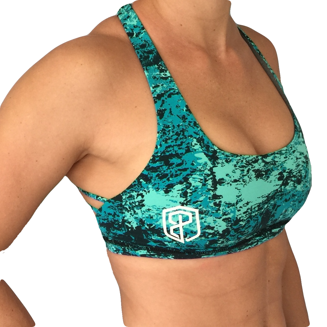 a4edbbfc8c89b Born Primitive Teal Splash Vitality Sports Bra Designed to fit the everyday  athlete and offer maximum comfort. This bra also comes with removable pad  ...