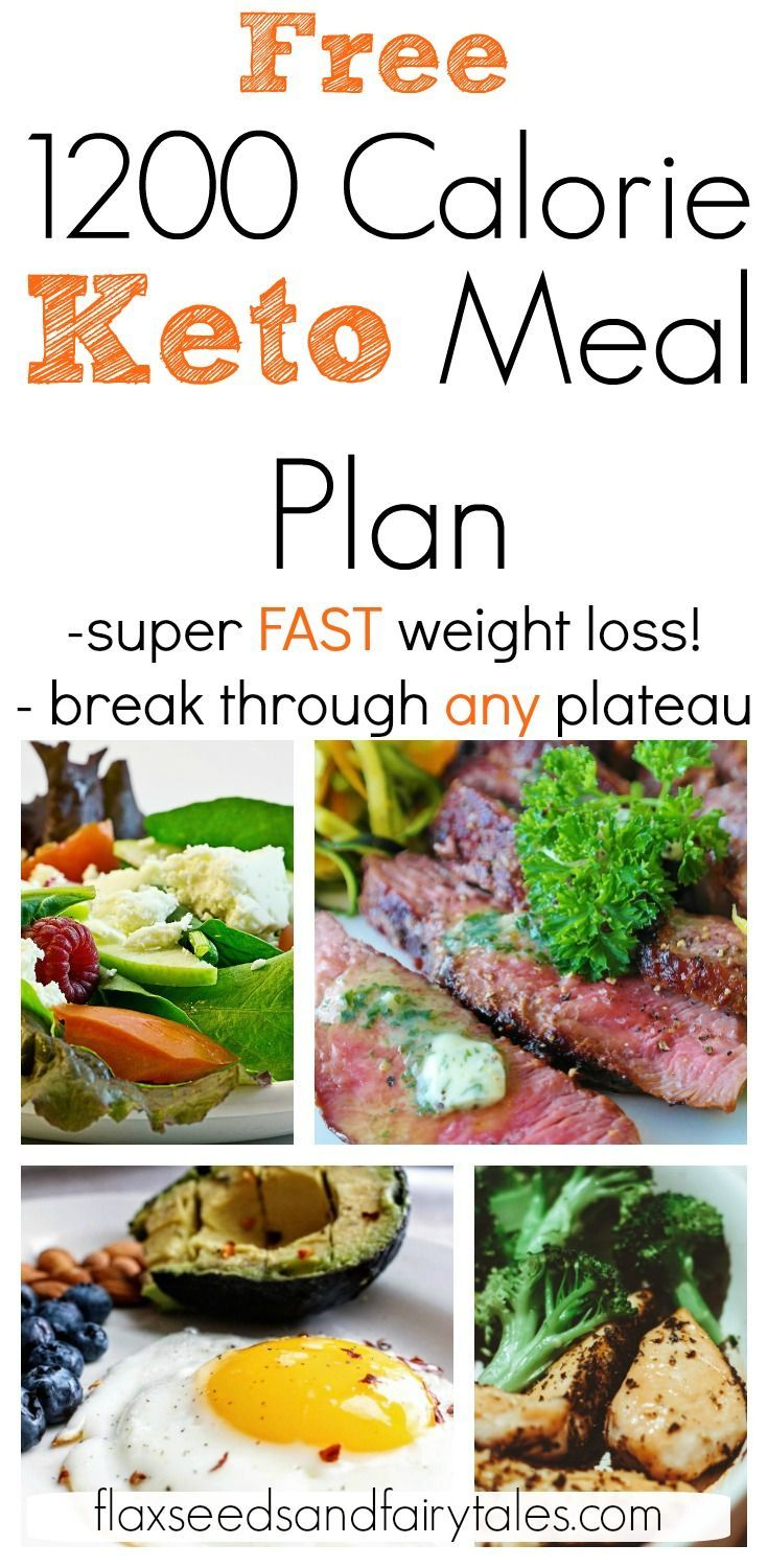 This 1200 calorie low carb meal plan is an easy 7 day menu for fast weight loss on keto! #1200calori...
