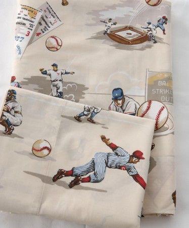 Boys Baseball Sheets Kid S Room Baseball Bed Kids