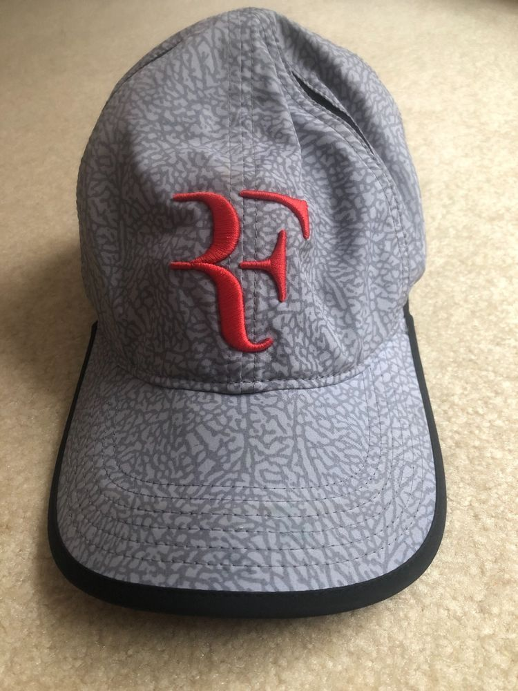 c1e38a90 NEW Nike Air Jordan x Roger Federer Hat 725569-100 2014 US Open Ltd ...