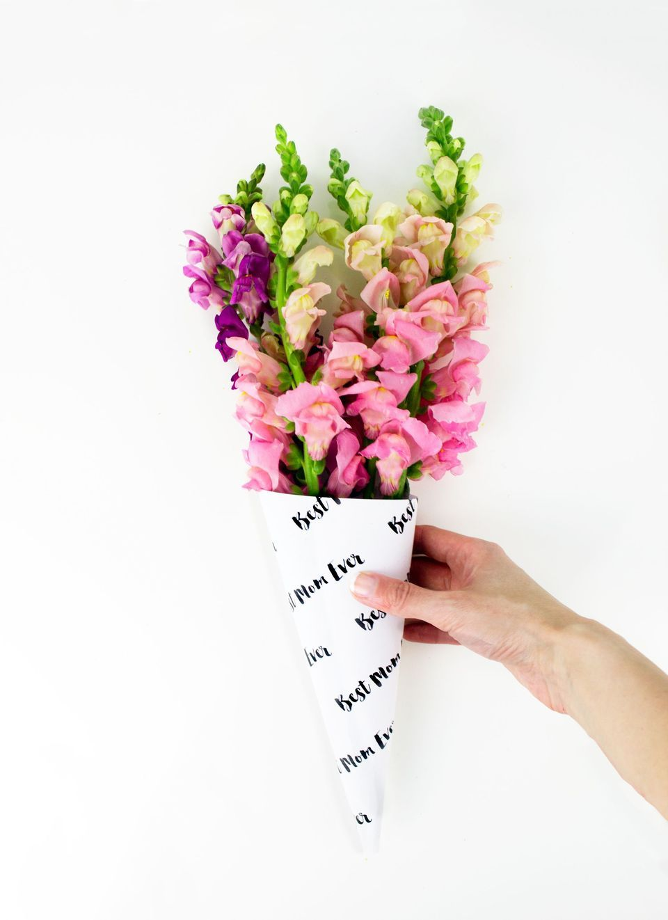 Diy Mothers Day Flower Bouquet Wrap Flower Bouquets Diy Flower
