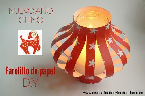 Me gusta reciclar: Linterna china de papel / Chinese lantern | Aprender manualidades es facilisimo.com