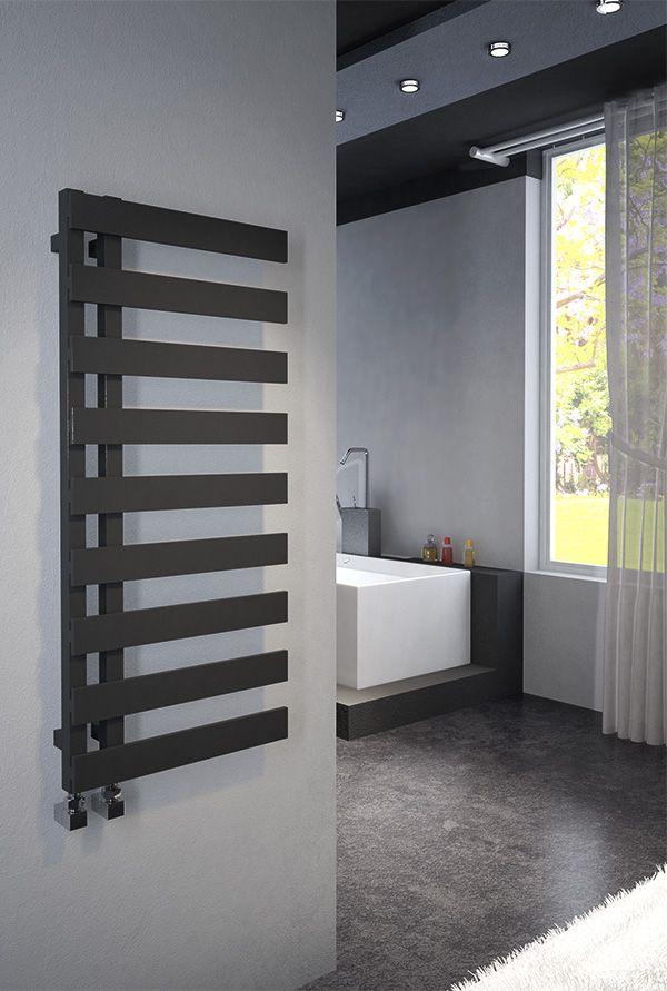 Emreno Anthracite Designer Towel Radiator 500mm Wide 1232mm High Towel Radiator Grey Bathroom Furniture Design