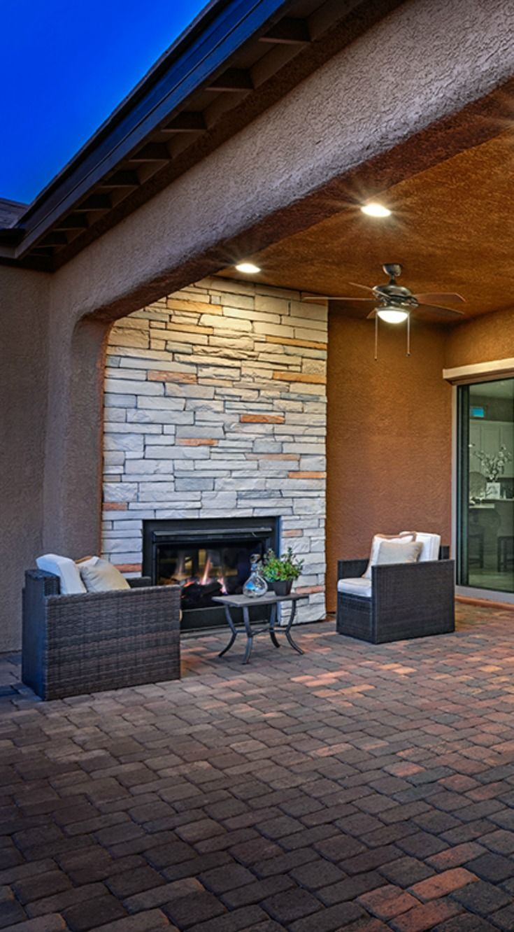 Extend Your Outdoor Hang Time With An Outdoor Fireplace Like This