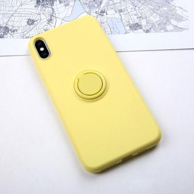Soft Silicone iPhone Case with Ring Holder