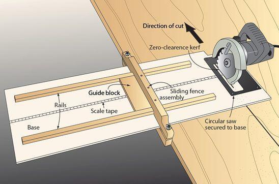 home made circular saw guide