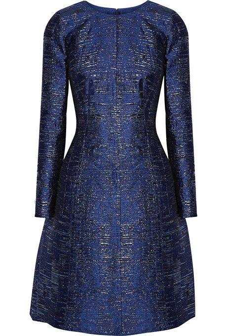 Metallic silk-blend jacquard dress, $2,490, Oscar de la Renta available at Net-a-Porter
