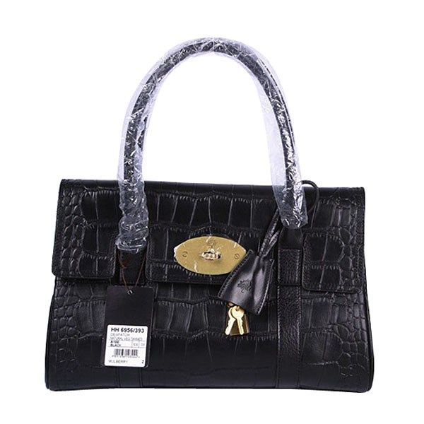 cac72b47da0 Mulberry East West Bayswater Printed Leather Shoulder Bag Black ...