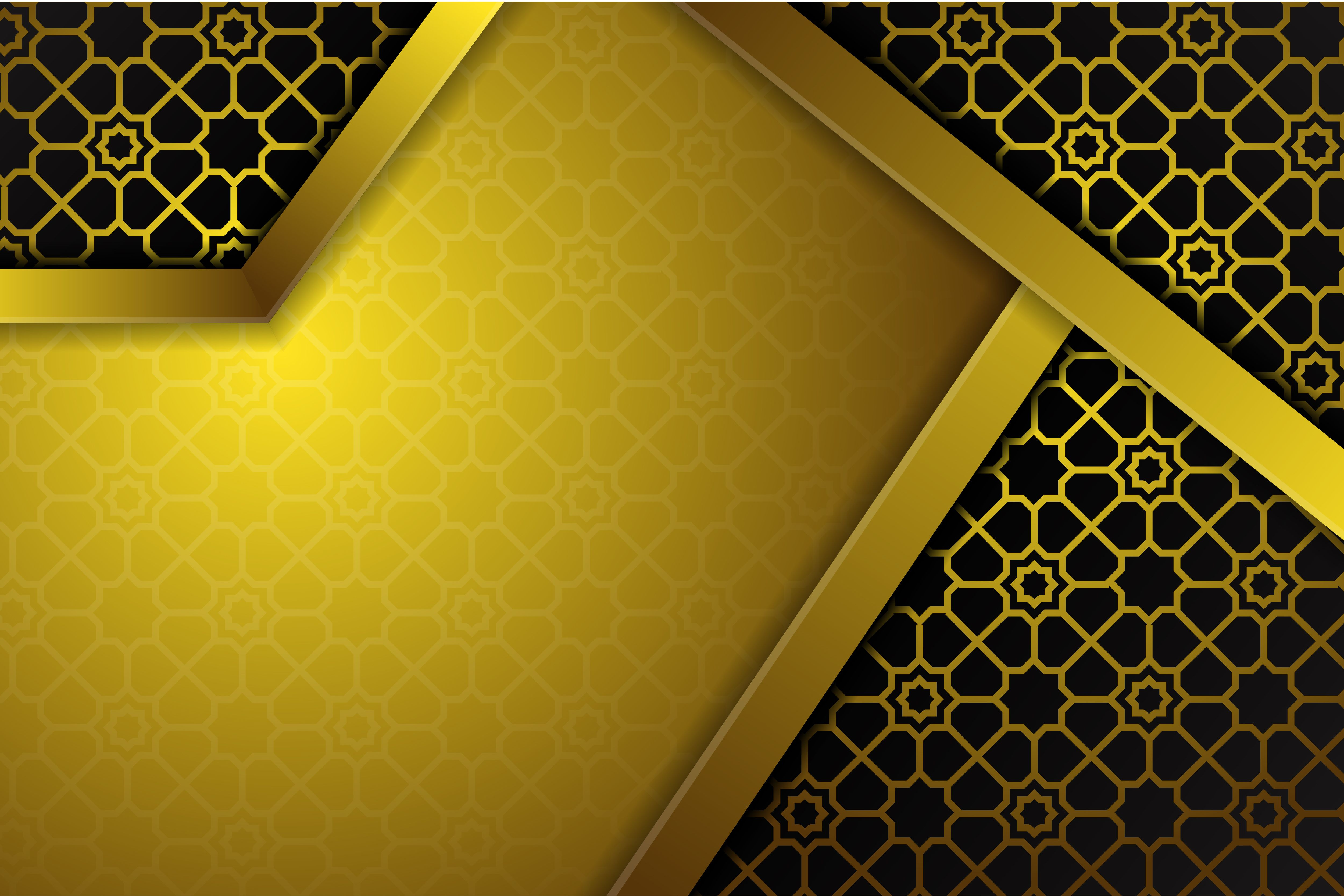 Gold Black Islamic Pattern Background Graphic By Noory.shopper · Creative  Fabrica | Islamic Pattern, Background Patterns, Islamic Background Vector