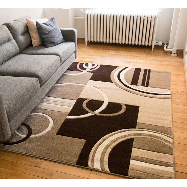 Ruby Abstract Brown Beige Area Rug Area Rugs Rugs In Living Room Contemporary Area Rugs