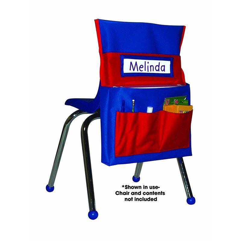 CHAIRBACK BUDDY BLUE/RED   Classroom storage, Chair backs