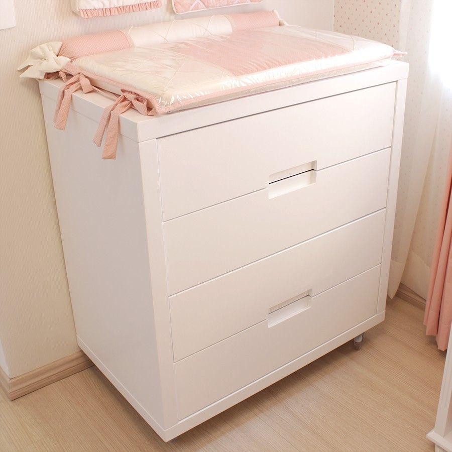 C Moda Para Beb Com Puxadores Em Cava Clean Cia Do M Vel  ~ Espelho Para Quarto Infantil E Quarto De Bebe Cavalinho
