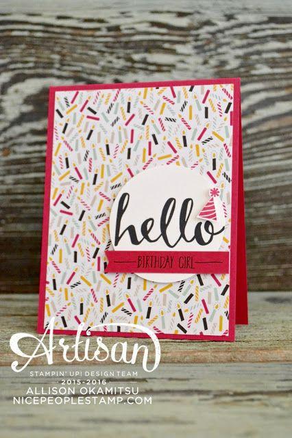 nice people STAMP!: Hello Birthday Card