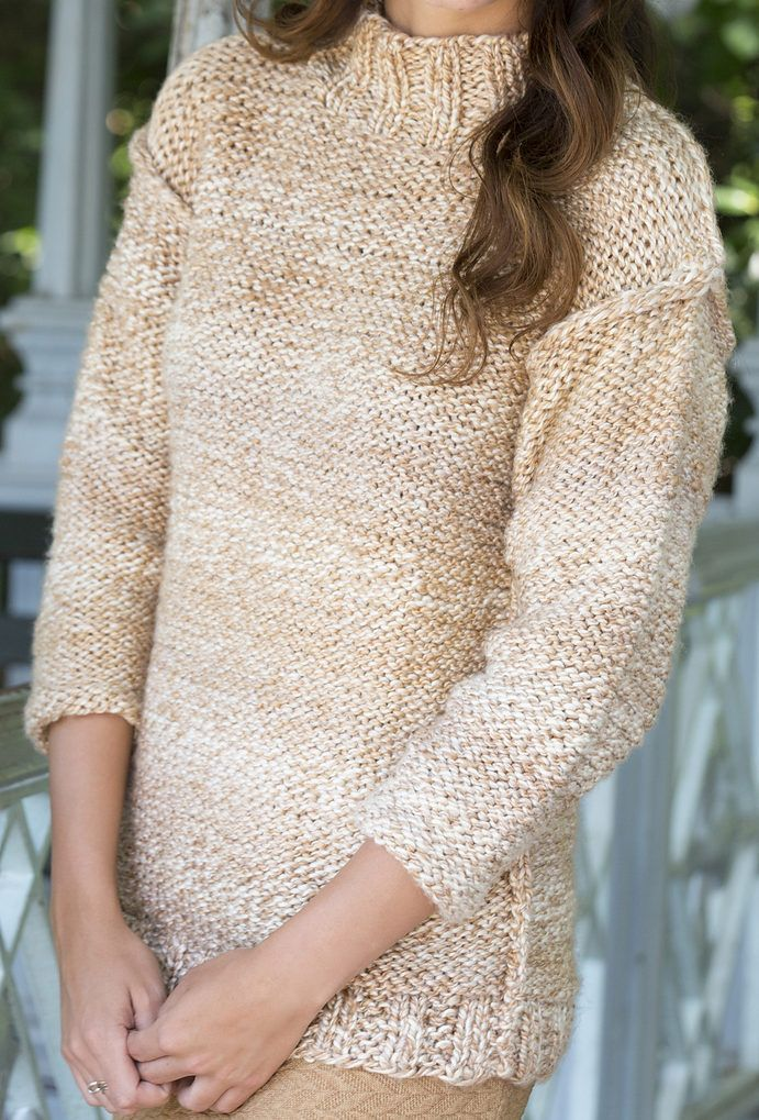 Free Knitting Pattern for Relaxed Sweater | Dos agujas :blusas ...