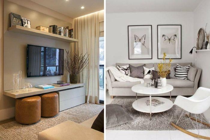 1001  ideas de decoracin de saln pequeo moderno  Home