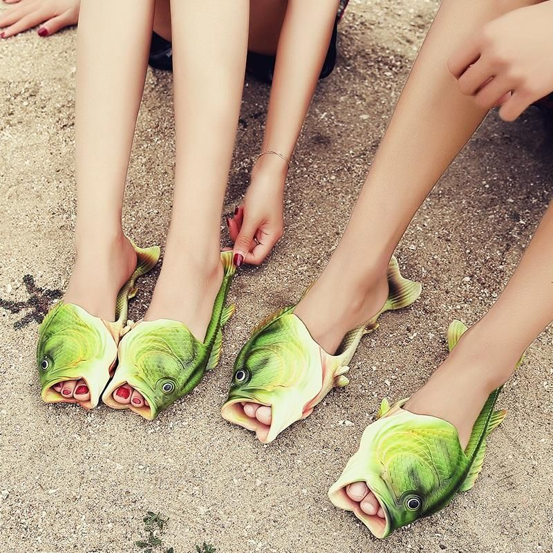 Clothing, Shoes & Accessories 2019 Unisex Strange Fish Style Beach Slippers-breathable Summer Sandals Gift New
