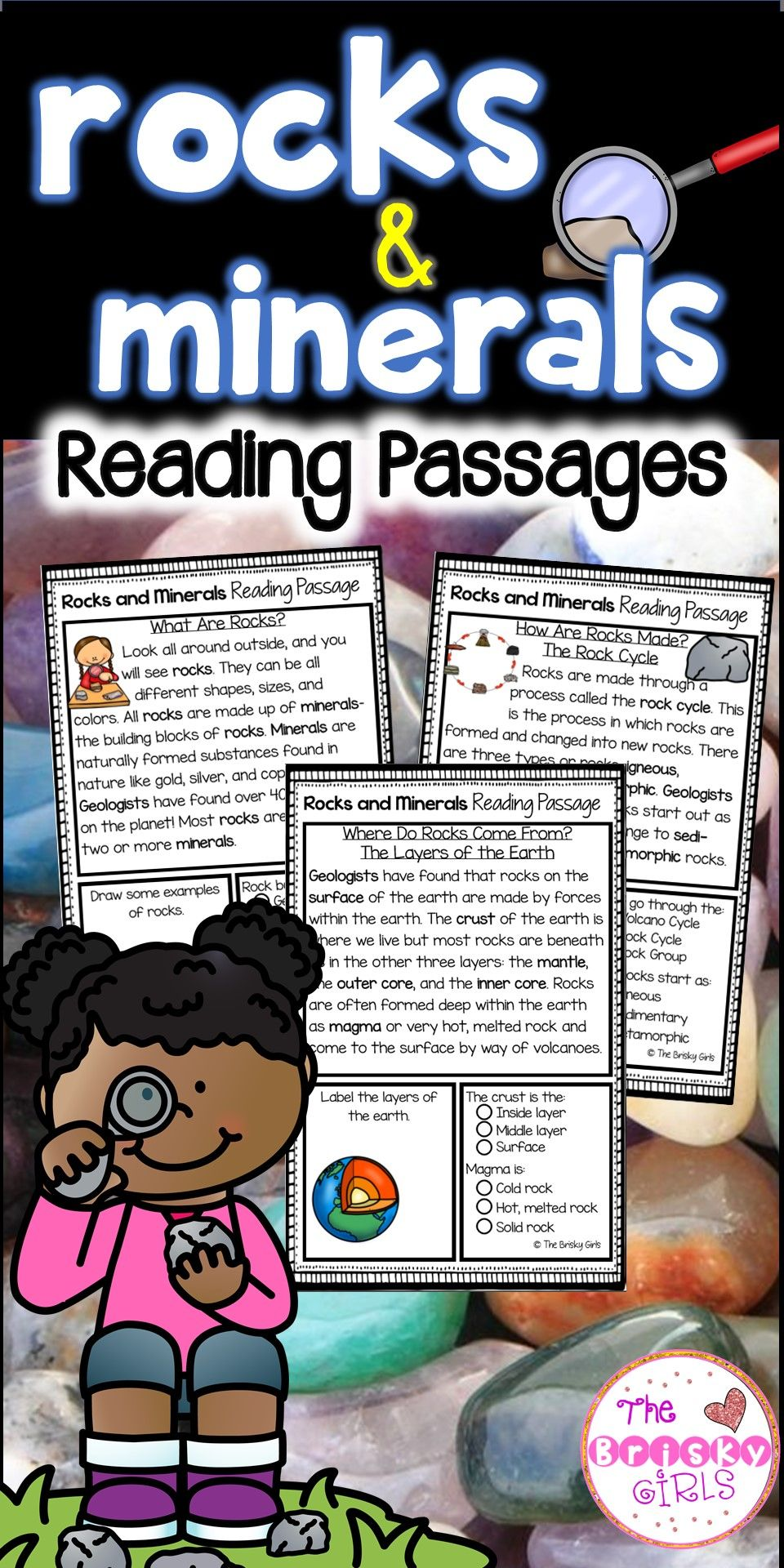 small resolution of Rocks and Minerals Reading Passages   Rock cycle