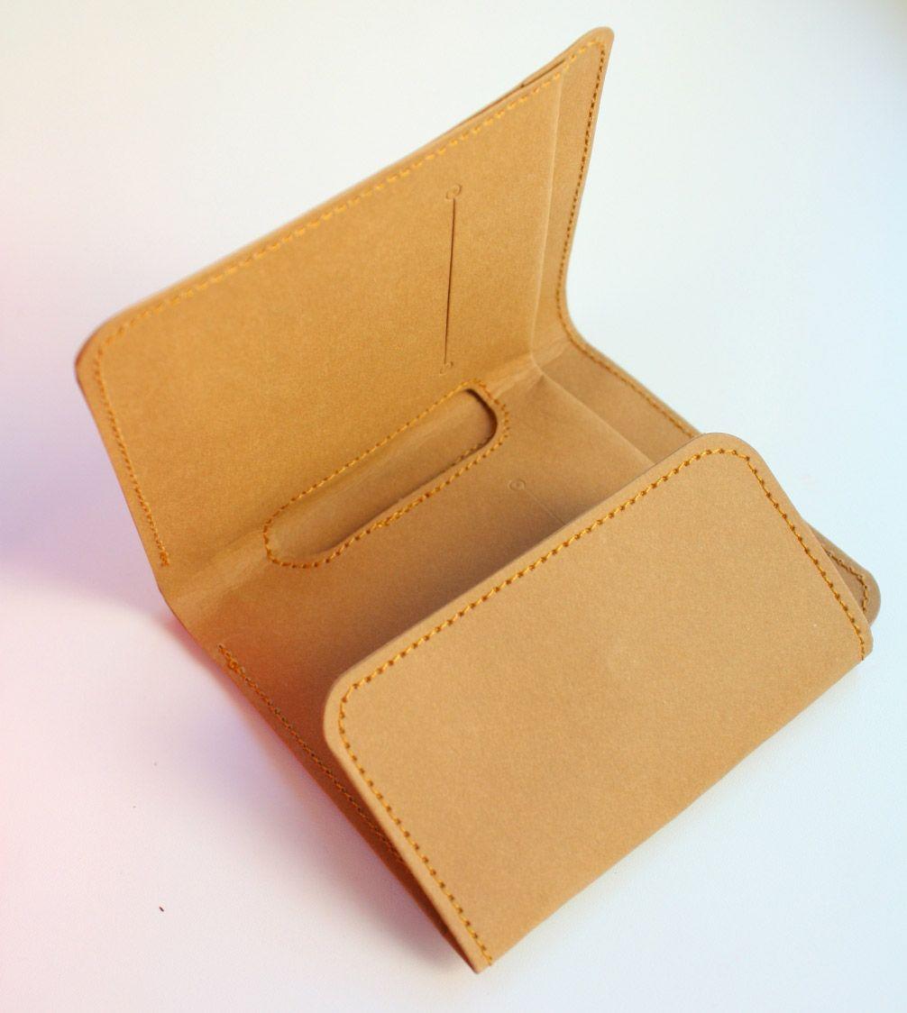Kraft Paper Fabric Wallet Geldbeutel Beutel Nahen Einfach