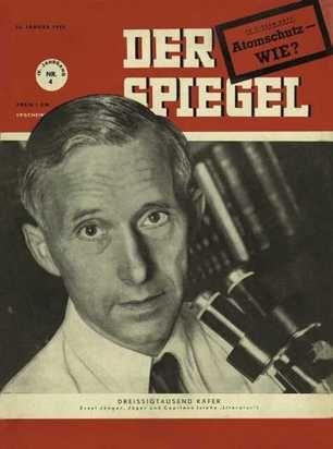 Der Spiegel 4/ 1950 hob Ernst Jünger auf den Titel. Thema: Der Traum von der Technik