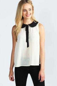 e346856da18541 Susie Wide Collar Sleeveless Blouse on shopstyle.co.uk