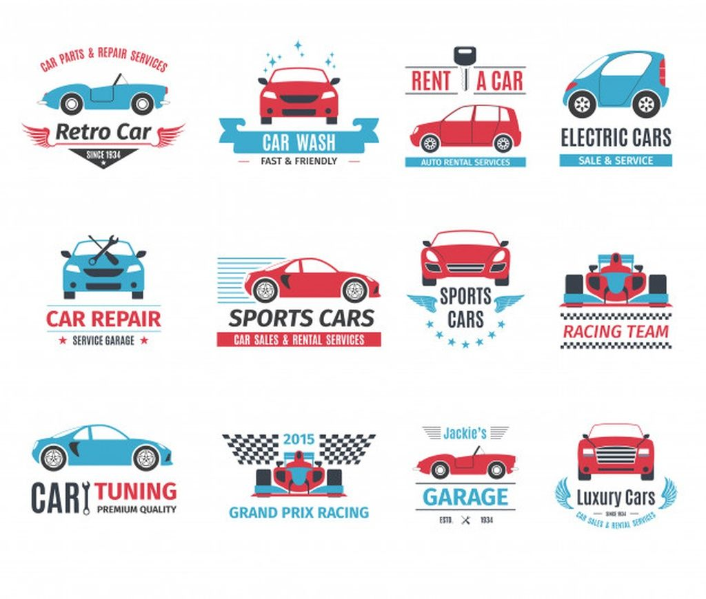 Car Logo Set Paid Paid Ad Set Logo Car In 2020 Auto Repair Retro Cars Car Logos