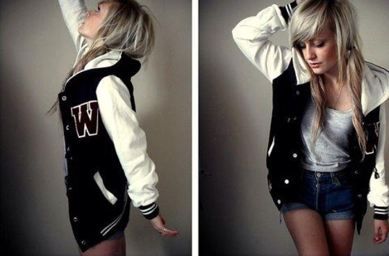 jacket,varsity jacket,varsity,women,women's varsity jacket,black,white,fashion,coat,sweater,nike,adidas,sporty,athletic,cute,girly,tomboy,black varsity jacket,bandw,b&w,style #varsityjacketoutfit