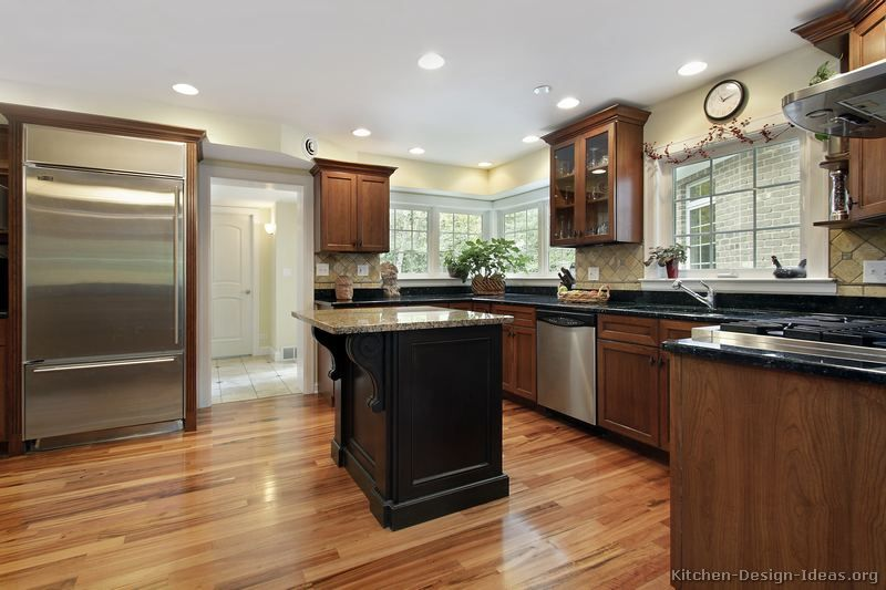 Pictures Of Kitchens Traditional Medium Wood Kitchens Cherry Color Page 4 Wood Floor Kitchen Kitchen Design Wood Cabinets