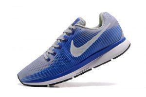 4191c3aa79b Mens Nike Zoom Pegasus 34 FlyEase Wolf Grey Racer Blue Deep Royal Blue  White 904678 004