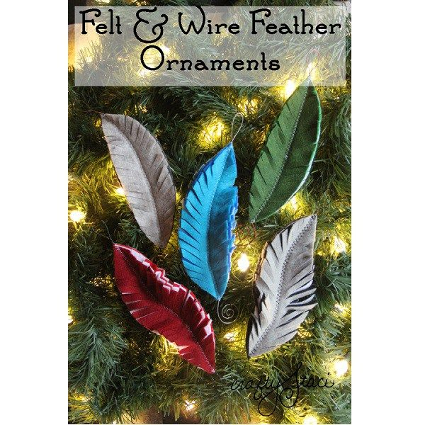 craft ideas with feathers tutorial felt feather ornaments craft gossip 3974