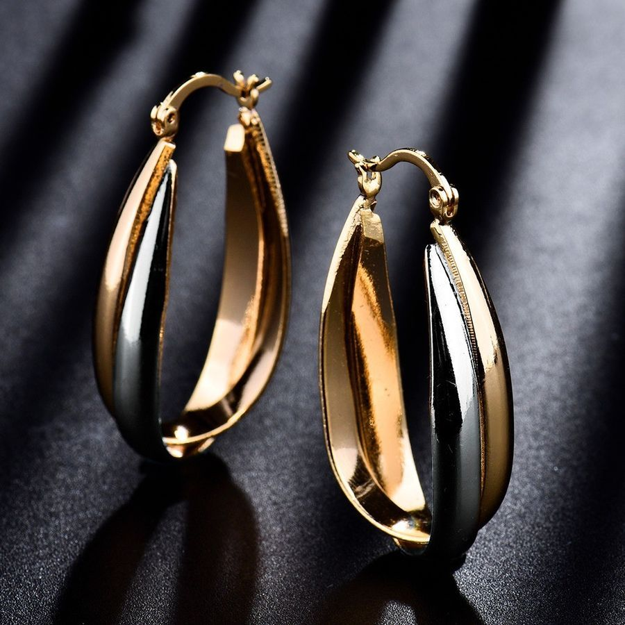 Womens Stylish Special Gold Filled Two Tone Infinity Big Hoop Dangle  Earrings Gold Filled Special 4836c5a11c42