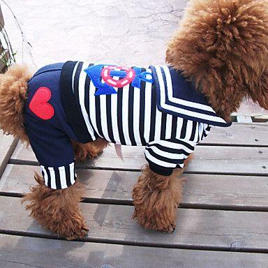 Hunde T-shirt Schwarz Sommer Nautisch / Streifen Zebra | Nautischen ...