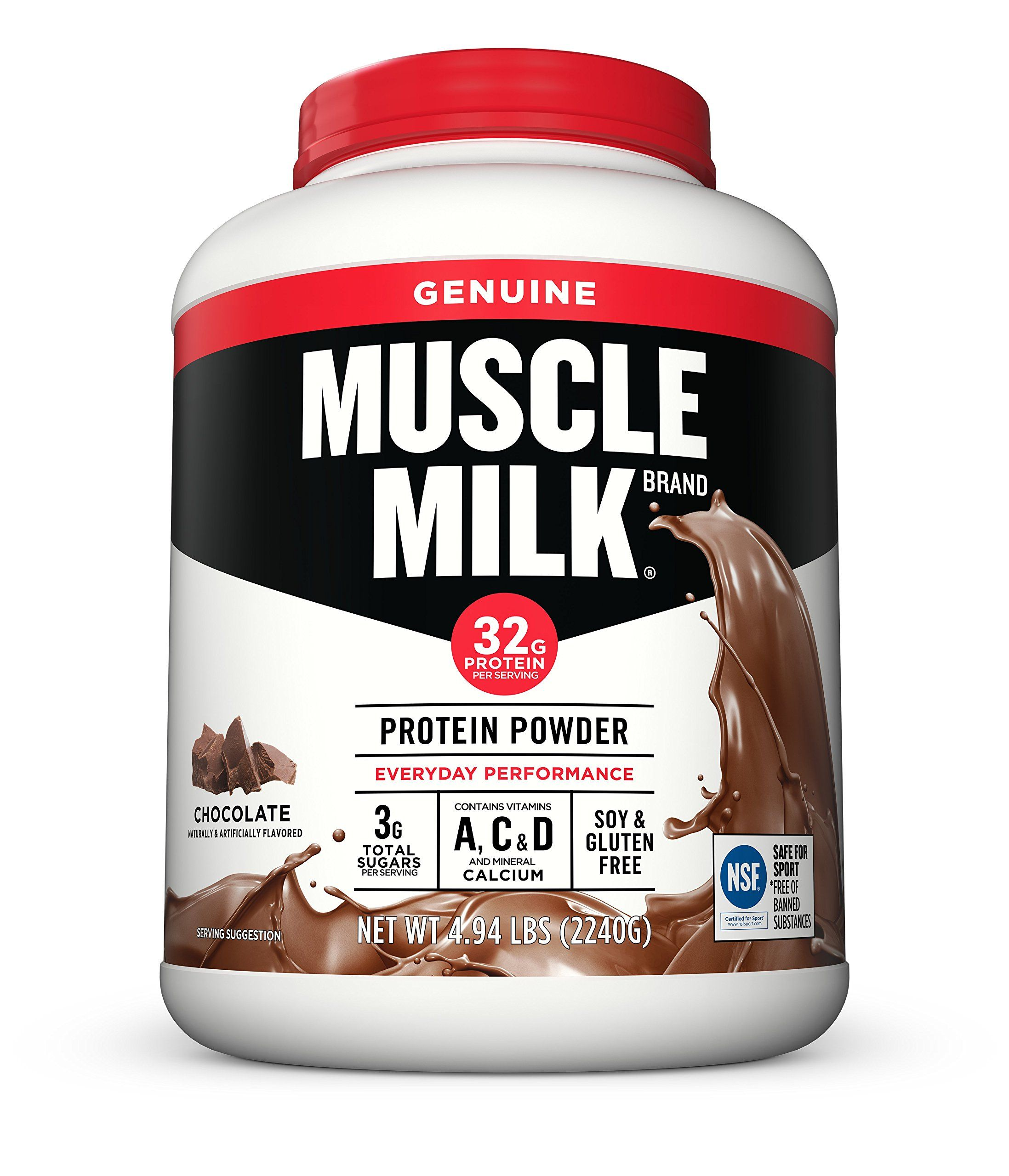 Muscle Milk Genuine Protein Powder Chocolate 32g Protein 4 94 Pound Read More Reviews Of The Product By Vi Muscle Milk Natural Protein Powder Protein Powder