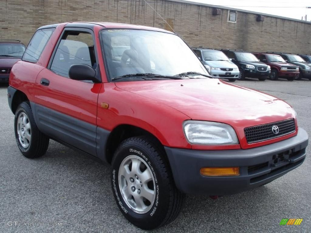1996 Bright Red Toyota Rav4 2 Door 38690306 Photo 3 Gtcarlot Com Car Color Galleries With Images Toyota Rav4 Toyota Car Colors