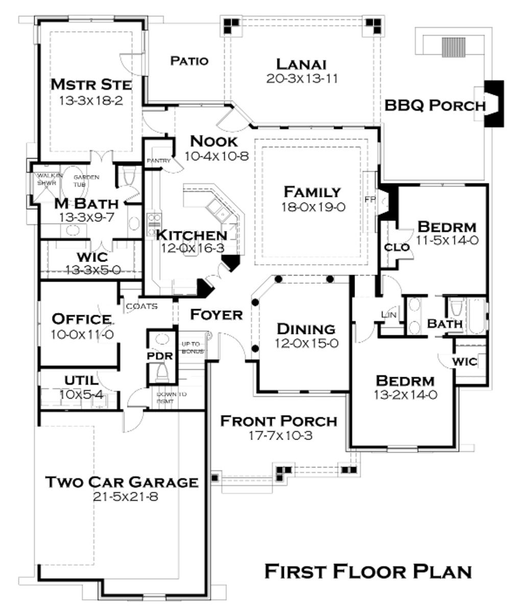 Craftsman Style House Plan 3 Beds 2 5 Baths 2234 Sq Ft Plan 120 180 Bungalow Style House Plans Tuscan House Plans Ranch House Plans