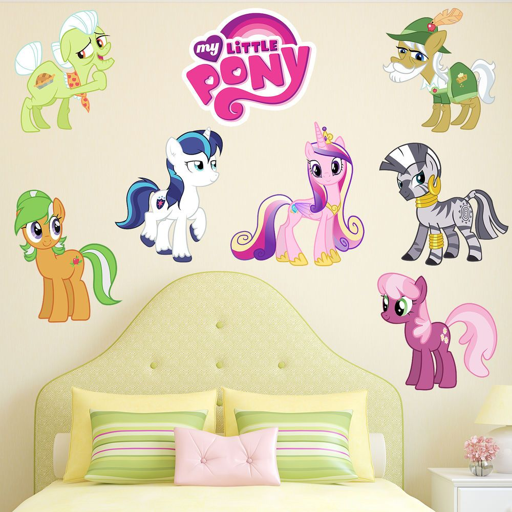 Details about MY LITTLE PONY GIRLS KIDS BEDROOM VINYL DECAL WALL ART ...
