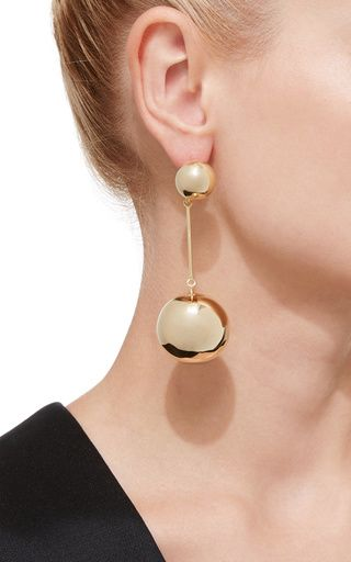 Silver Sphere Drop Earrings J.W.Anderson