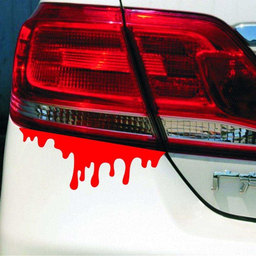 Car Auto Body Headlight Tail Light Bleeding Decor Red Blood Vinyl Decal Sticker