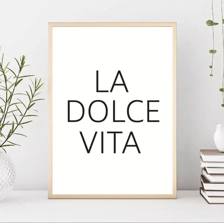 La Dolce Vita Canvas Print Without Frame
