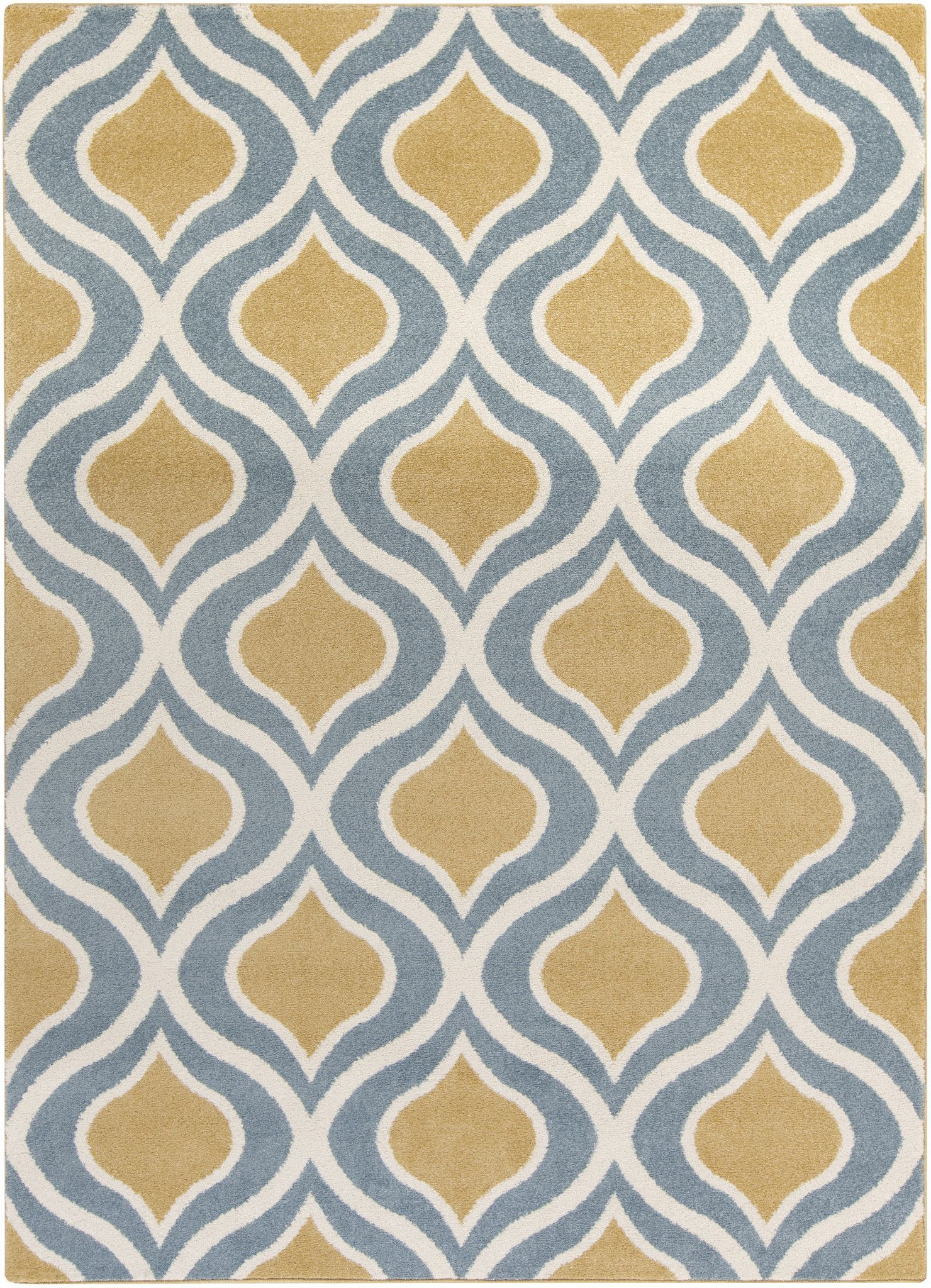 Surya Hrz1067 Horizon Yellow Blue Rectangle Area Rug
