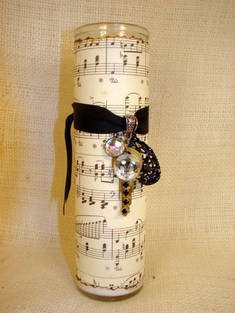 I imagine you can accomplish a lot with some decoupage and a little creativity. lol another cute easy gift for any music lover.